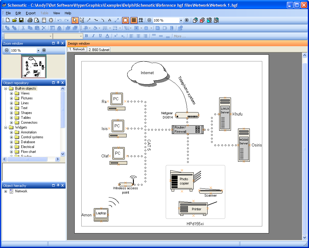 The Schematic diagramming tool by Dot Software Ltd.